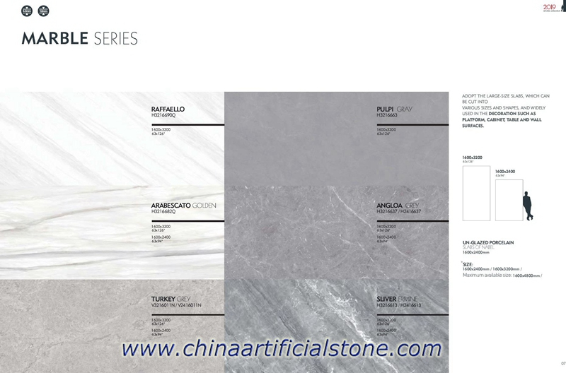 Large Format Marble Ceramic Panels