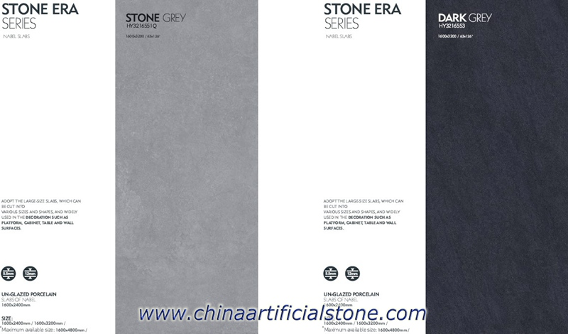 Grey Large Format Ceramic Slabs Tiles